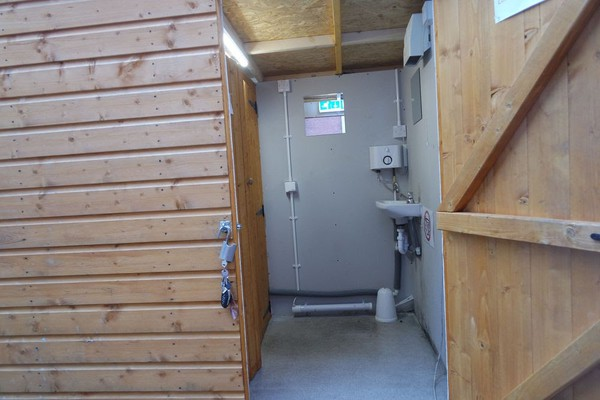 Double Wooden shed toilet