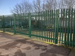 Palisade Fence Panels And Pair Of Gates