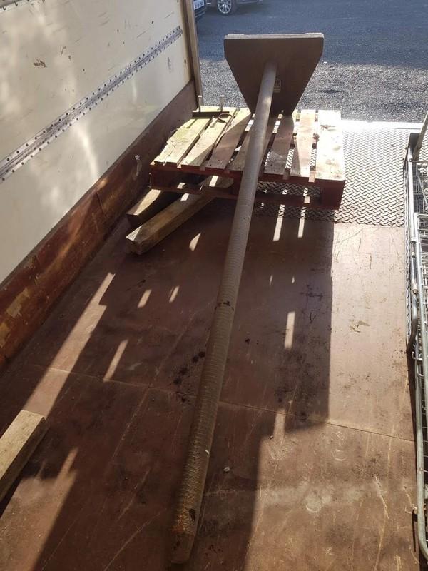 Carpet Pole Forklift Attachment