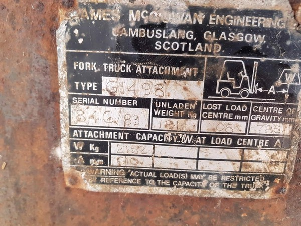 Forklift Attachment for sale