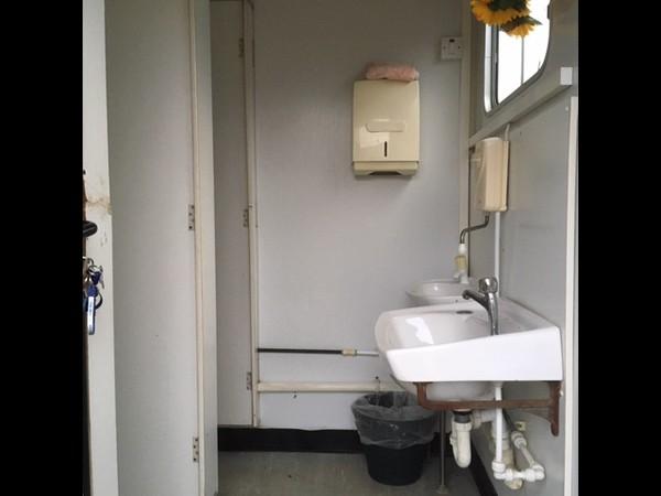 Secondhand jack leg toilet block
