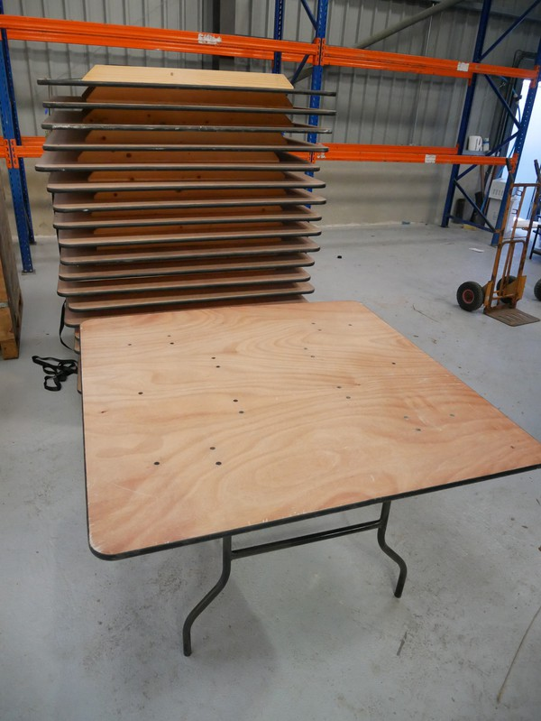 large square trestle tables for sale