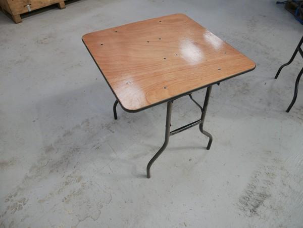 Square trestle tables