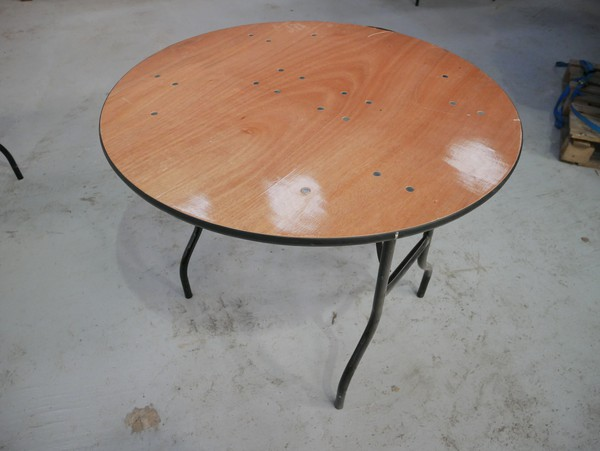 Small Circle Trestle Tables