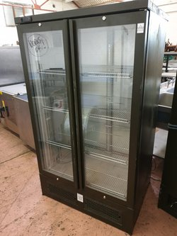 buy Osborne 7050P Pass-through Double Door Upright Bottle Cooler