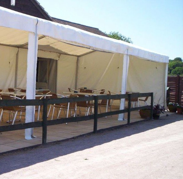 4.5m x 4.5m framed marquee with lining
