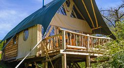 Glamping Lodge canvas roof