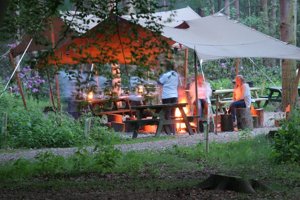 Camp fire tent