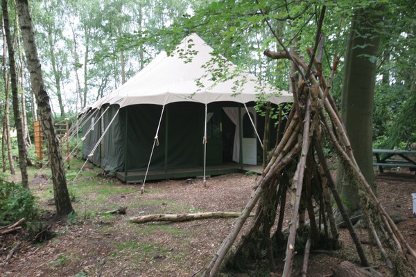 Glamping lodge marquee