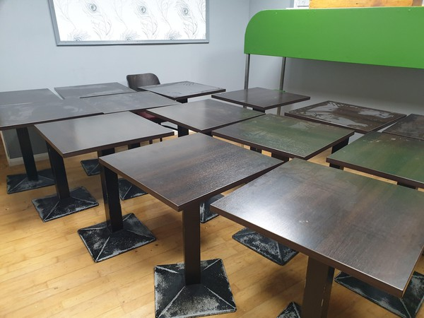 Wooden Café Tables 60' x 60