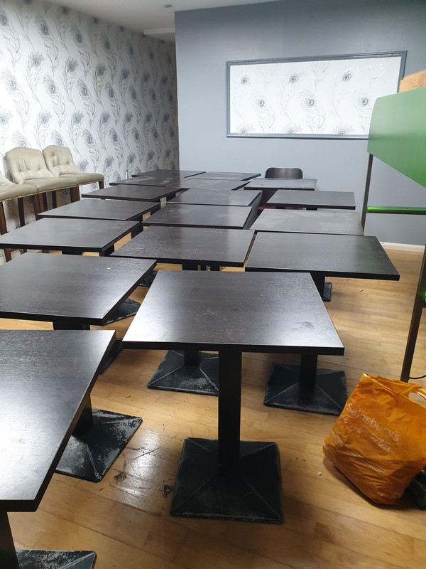 Square Wooden Café Tables 60' x 60