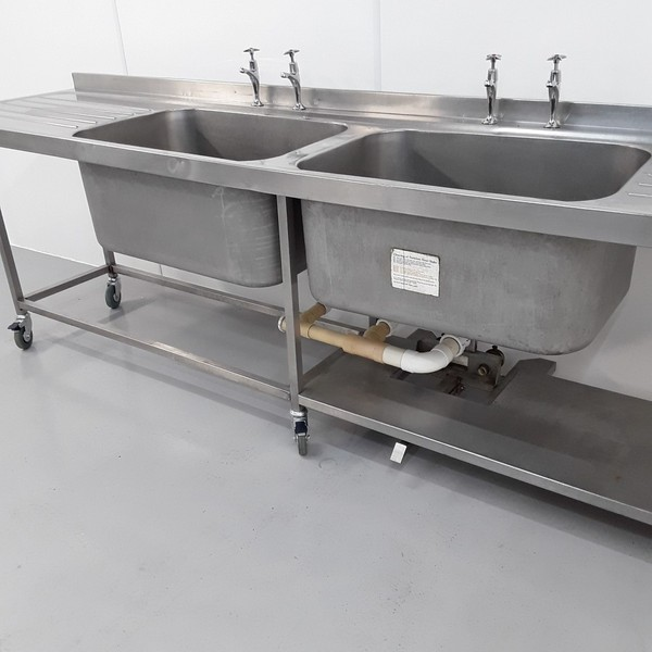 Used Stainless Double Sink (10814) - Bridgwater, Somerset 4