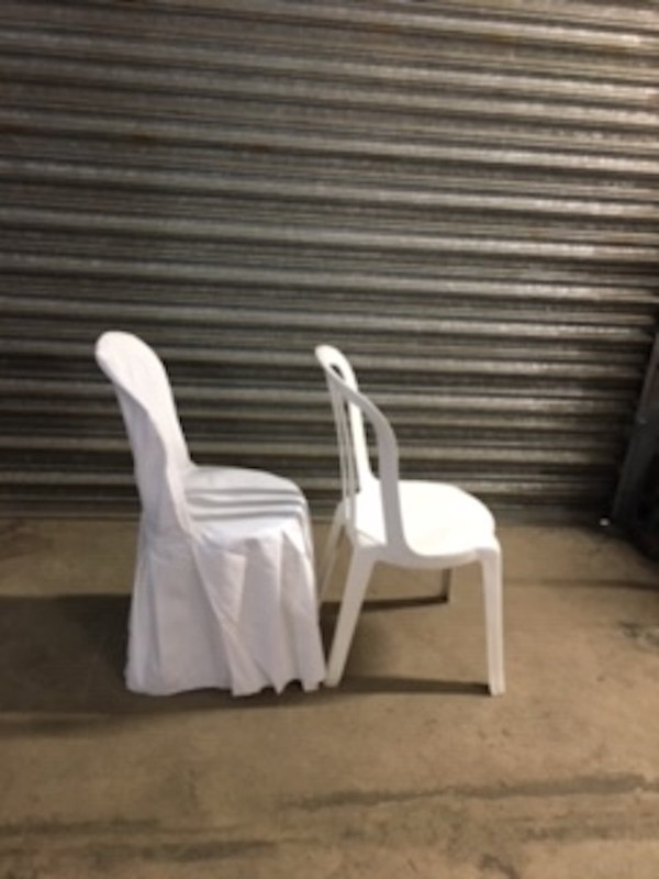 Second Hand White Cotton Chair Covers