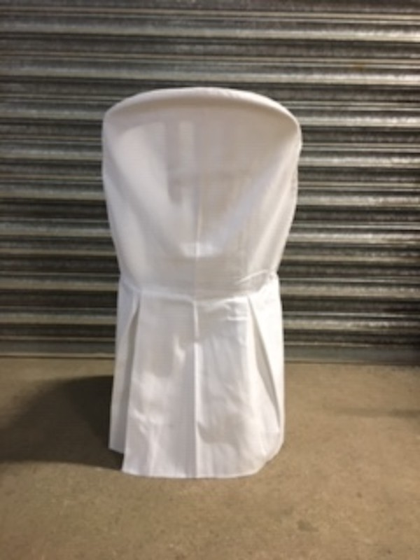 Used White Cotton Chair Covers