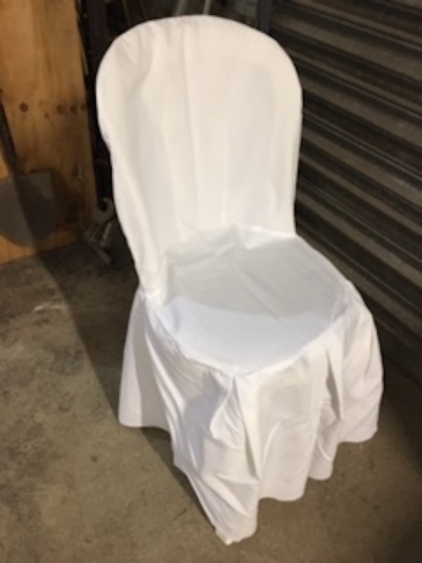 White Cotton Bistro Chair Covers
