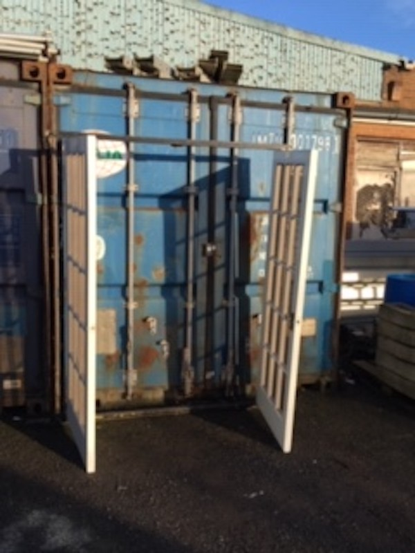 Used Double French Marquee Doors