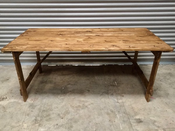 Rustic Style Trestle Tables - Made to Order - Whalley, Lancashire