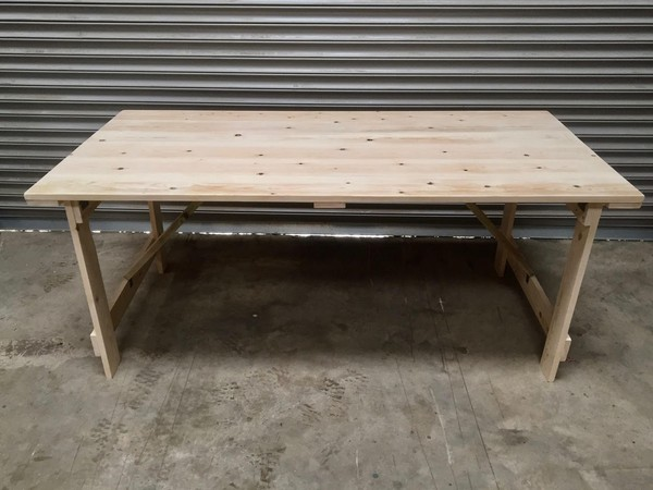 Buy Rustic Style Trestle Tables