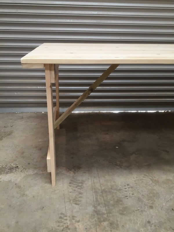 Rustic Wooden Trestle Tables