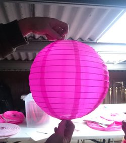 Pink & Purple Spherical Lanterns (Paper & Nylon)