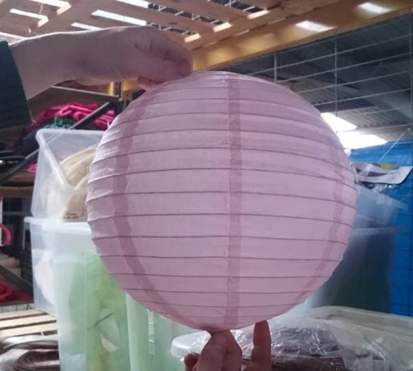49x Pink & Purple Spherical Lanterns (Paper & Nylon)