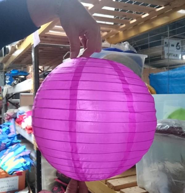 Used Pink & Purple Spherical Lanterns (Paper & Nylon)
