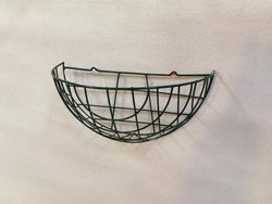 Green Hanging Wall Baskets