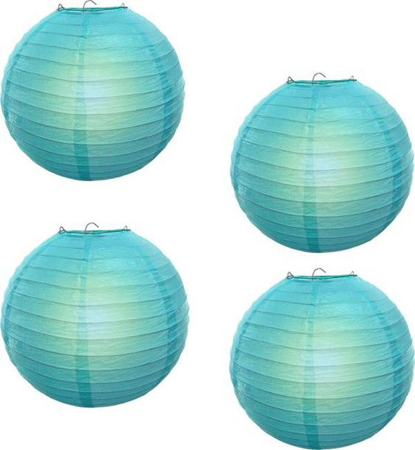 23x Blue Spherical Lanterns (Nylon)
