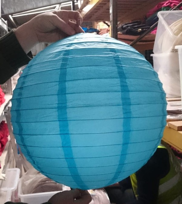 Blue Spherical Lanterns (Nylon)