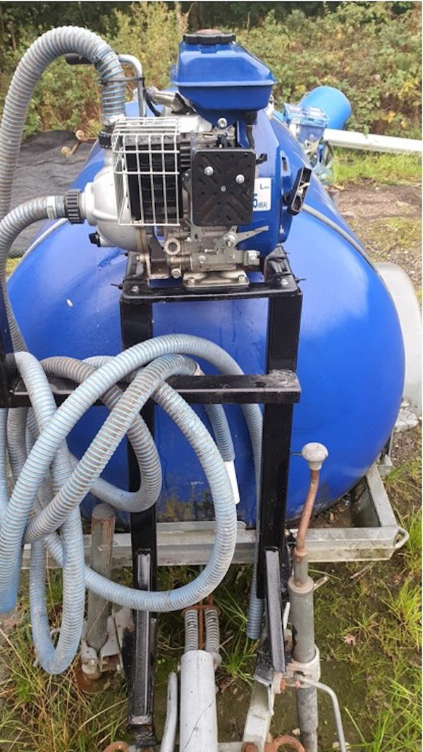 Water Bowser and Petrol Water Pump for sale