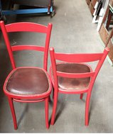 Red Bentwood Chairs for sale