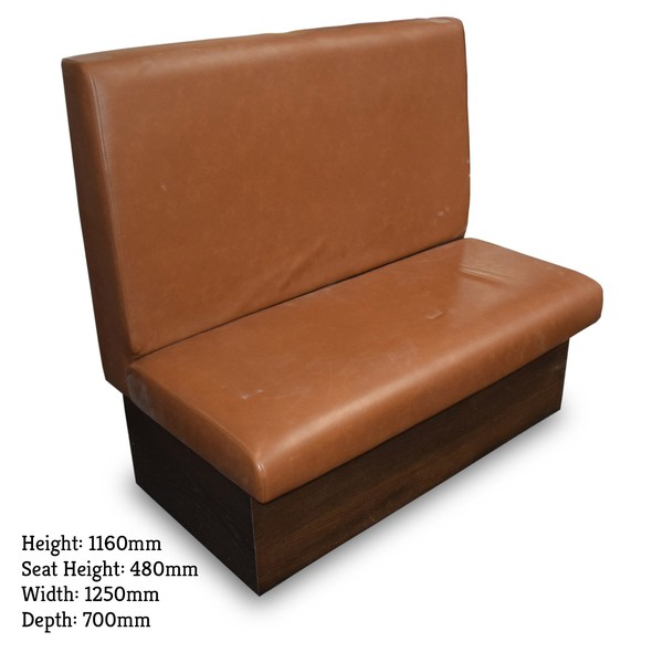 Brown leather seating