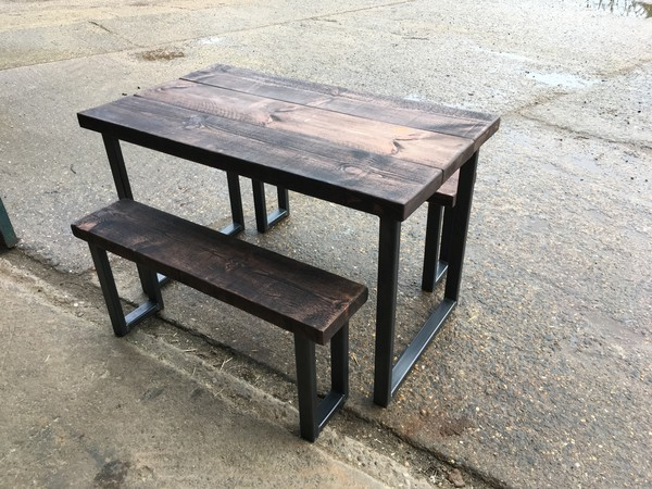 Table and benches