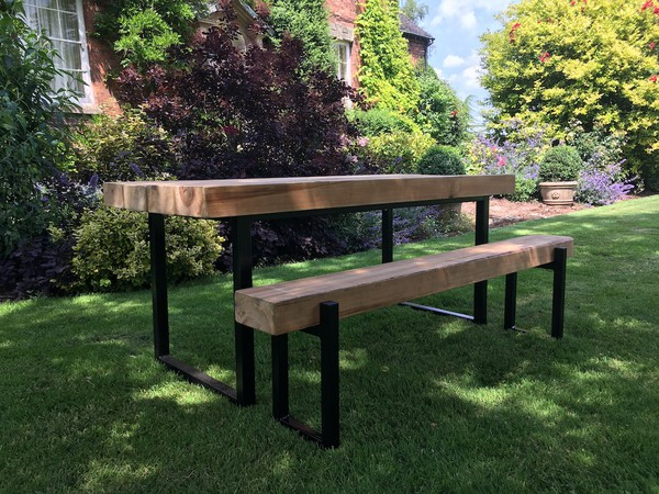 Industrial Style Outdoor Sleeper Table for sale