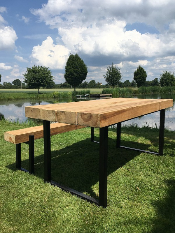 New Industrial Style Outdoor Sleeper Table
