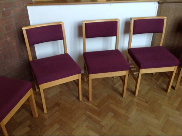 Church chairs for sale with Bible ledge