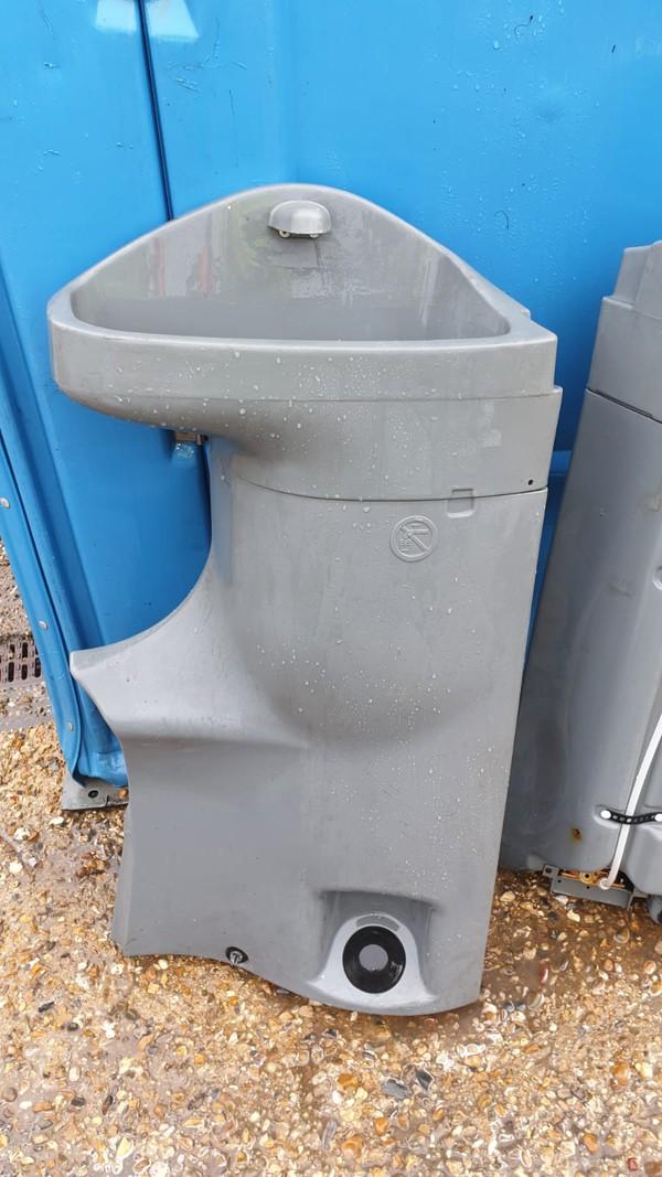Footpump portable toilet sinks