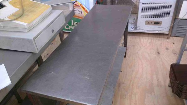 Stainless Steel Table with Shelf Below
