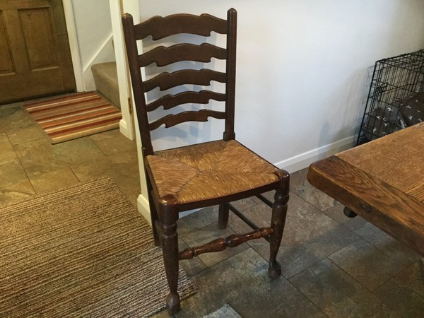 Oak ladder back chairs for sale