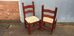 Briton Rush Seat Chairs for sale
