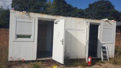 Container / Portakabin With Living Accommodation With Storage