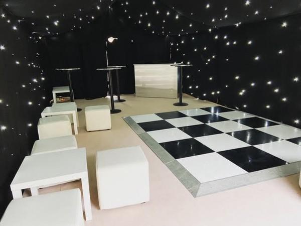 18ft x 18ft Black And White Dance Floor
