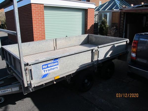 LM105 3500kg Dropside trailer