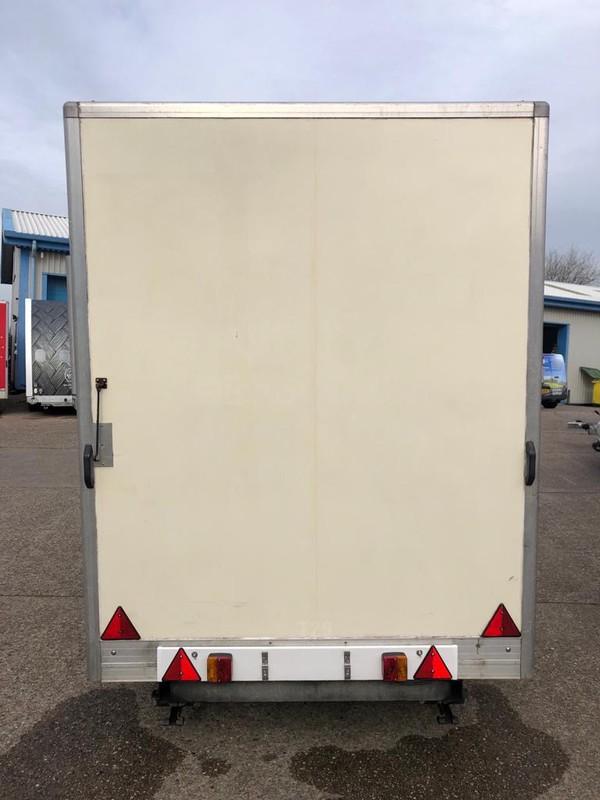 White box exhibition trailer
