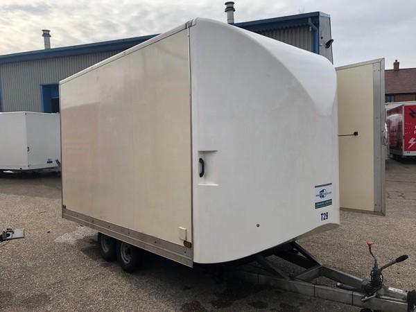 White exhibition trailer for sale