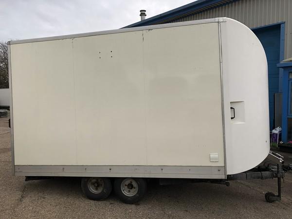 White box trailer / exhibition trailer