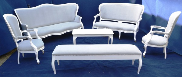 White French Province Armchair For Sale