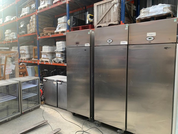 Foster Stainless Steel Fridge for sale