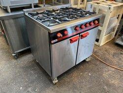 Reconditioned Bartlett LPG 6 Burner Oven Range
