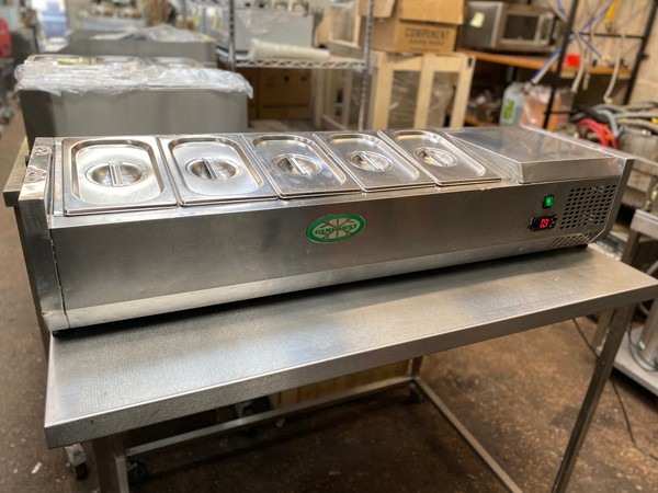 Pizza Topping Refrigerated Display for sale